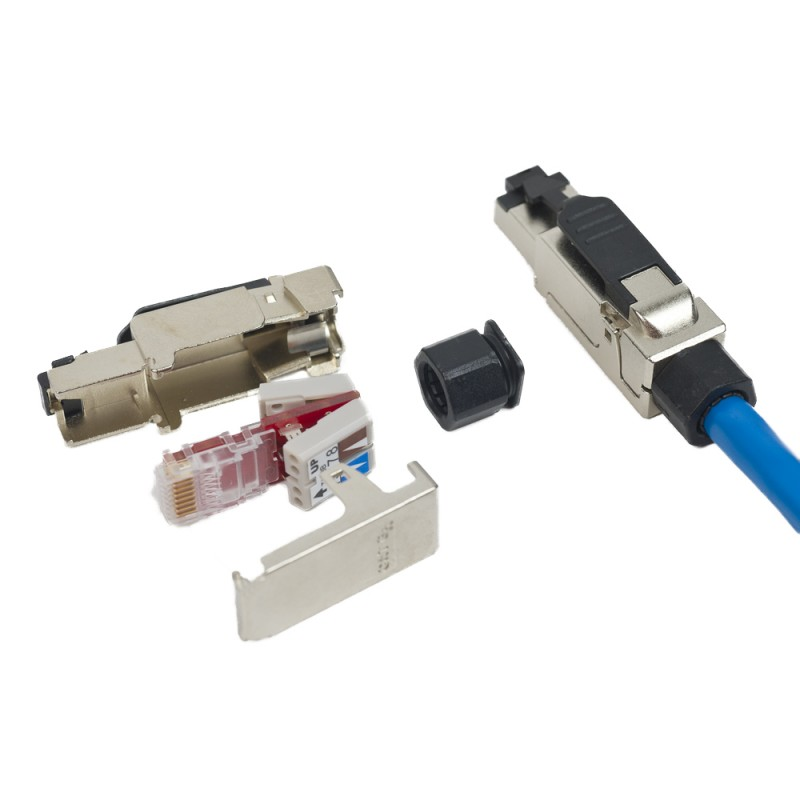 cat 6a field connector male plug tool less idc. Black Bedroom Furniture Sets. Home Design Ideas