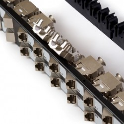 CAT 6A Angled Patch Panel